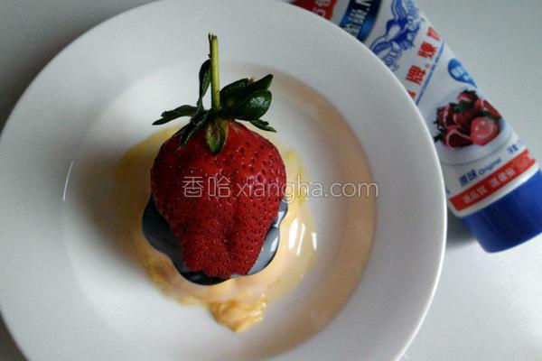 草莓炼乳布丁的做法