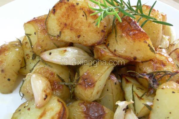 迷迭香烤马铃薯