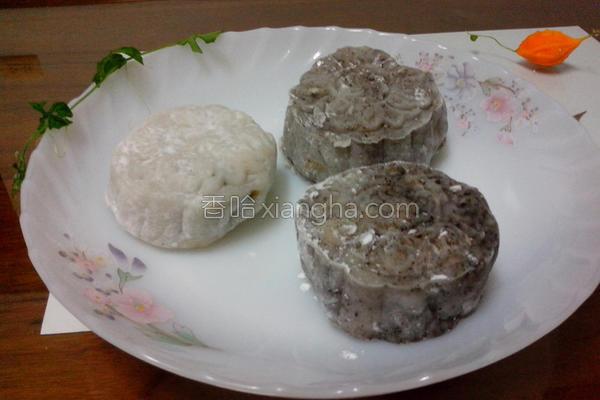 芝麻绿豆冰皮月饼的做法
