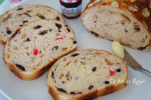 酒渍果干面包的做法
