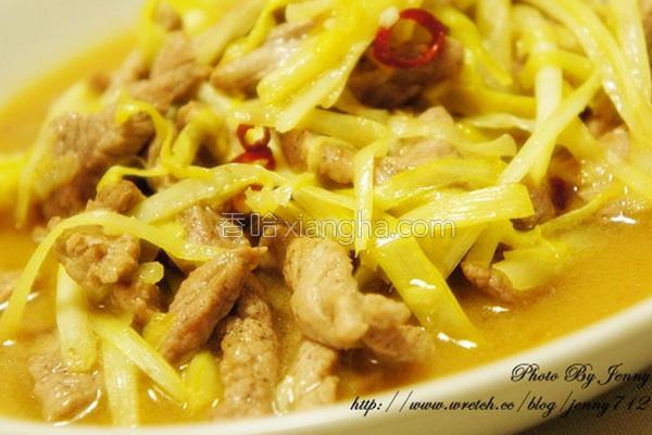 韭黄炒肉丝的做法