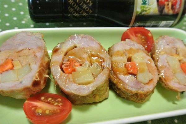 寿喜烧酱烤猪肉卷的做法