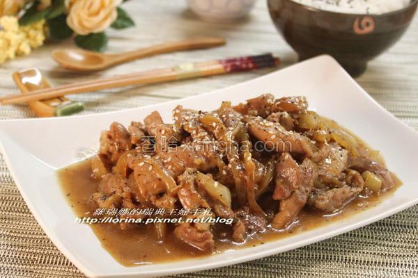 黑胡椒洋葱猪柳的做法
