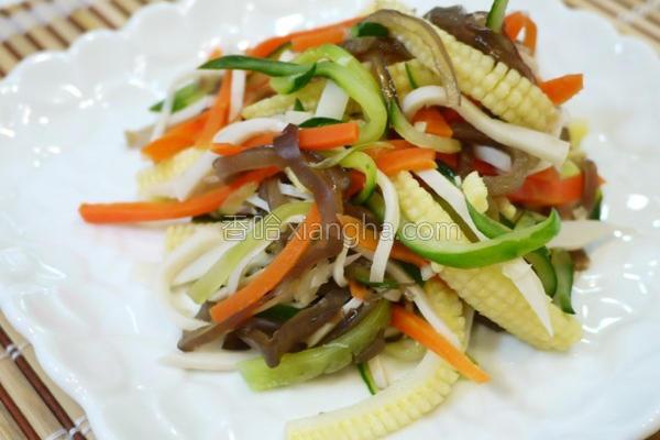 五行凉拌蔬菜丝的做法