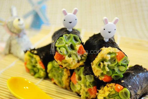 甘松海苔蔬菜卷的做法
