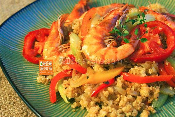 藜麦鲜虾炒饭的做法