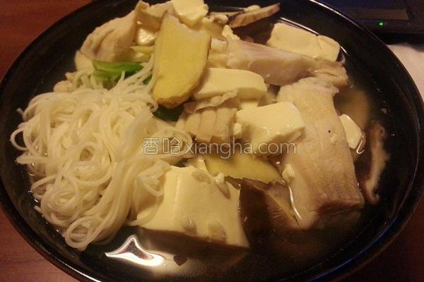 豆腐鲜鱼面线的做法