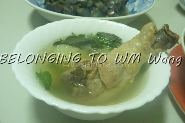 青木瓜鸡腿汤的做法