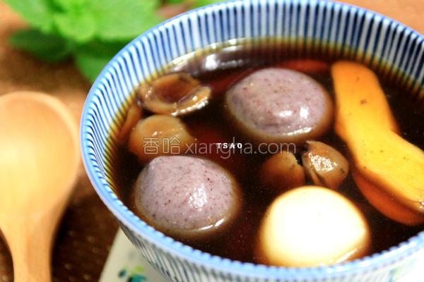 姜汁桂圆黑糖汤圆的做法