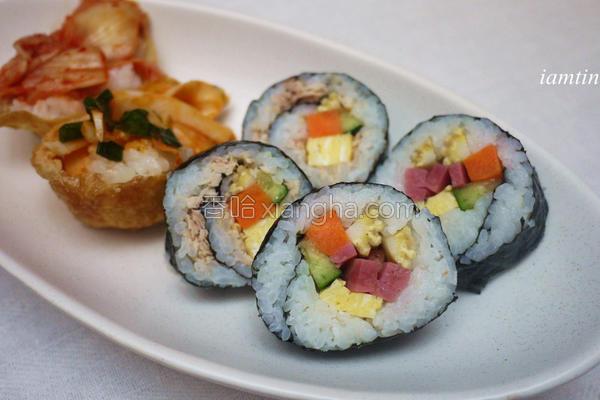 鲔鱼火腿寿司的做法