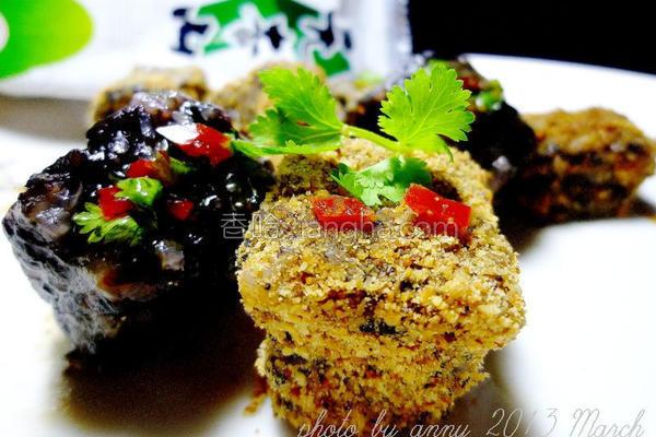 海苔米血糕的做法