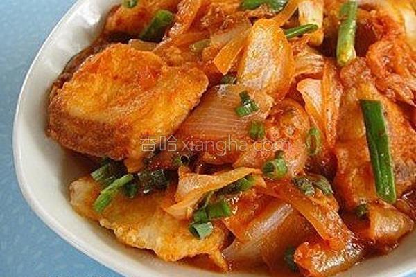泡菜鲷鱼烧的做法