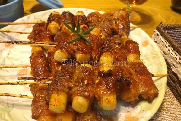 韩式烤年糕肉卷的做法