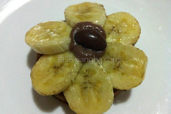 焦糖香蕉格子的做法