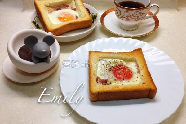 培根蛋吐司面包的做法