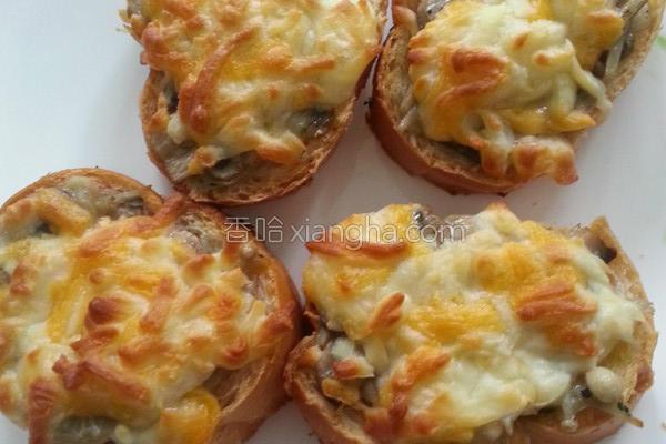 焗烤蘑菇面包的做法