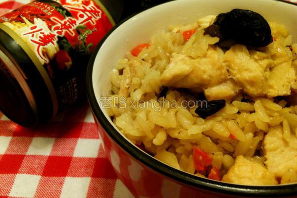 香菇鸡炊饭的做法