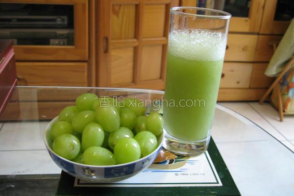 绿葡萄果汁的做法