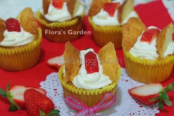 蝴蝶蜂蜜海绵蛋糕的做法