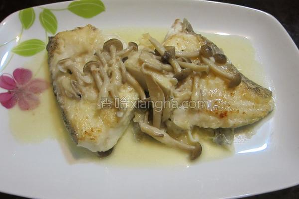 奶油蘑菇煎鳕鱼的做法