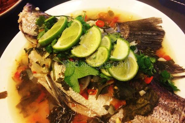 泰式柠檬鲈鱼的做法