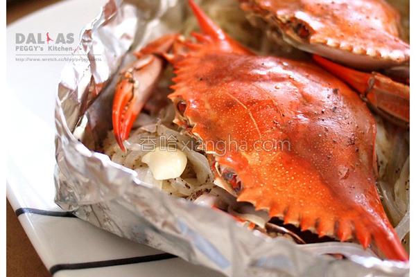 蒜香奶油蒸蟹的做法