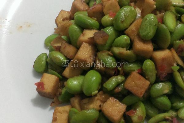 五香豆干炒毛豆的做法
