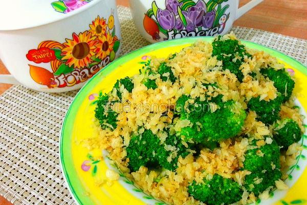 酥炒绿花椰的做法
