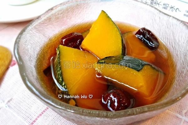 红枣炖南瓜的做法