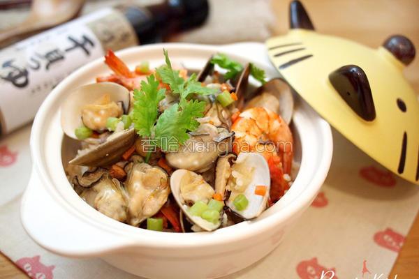 鲜蚵海鲜釜饭的做法