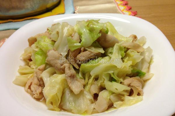 热炒猪肉高丽菜的做法