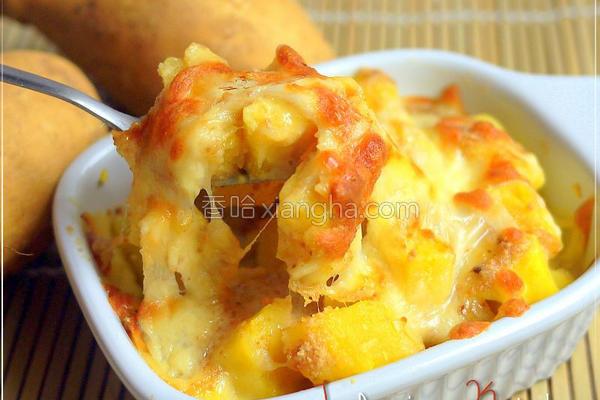 奶香花生金薯烧的做法