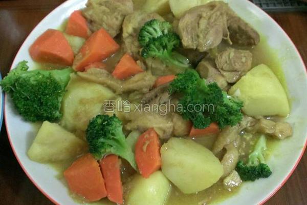 简易蔬菜鸡肉咖哩的做法