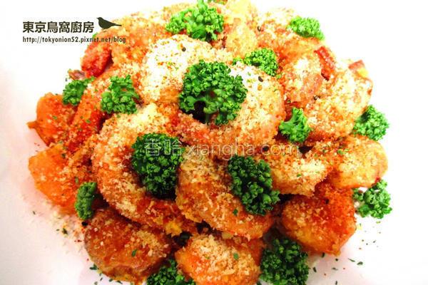 金沙起司虾的做法