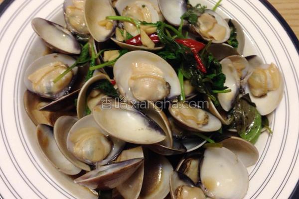 九层塔炒蛤蛎的做法