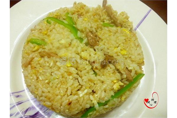 青椒肉丝炒饭的做法