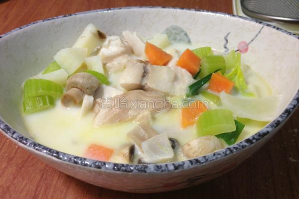 鲷鱼蔬菜浓汤的做法