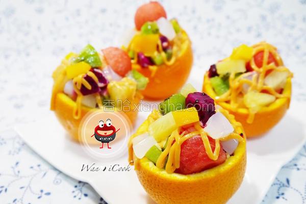 什锦水果沙拉盅的做法