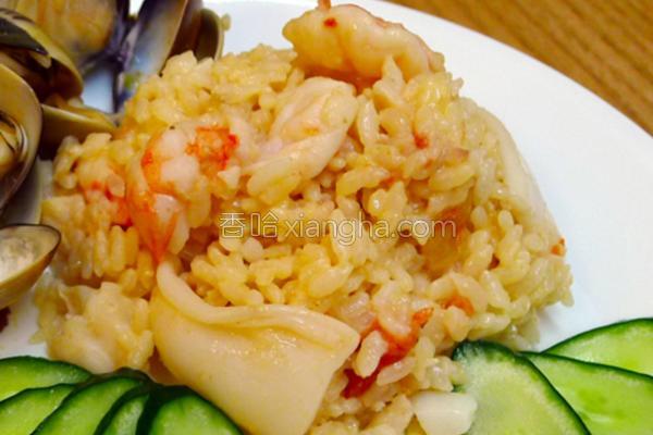 茄汁海鲜起司炖饭的做法