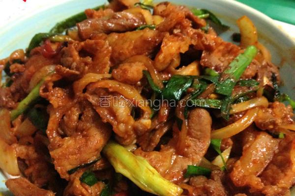辣炒韭菜猪肉的做法