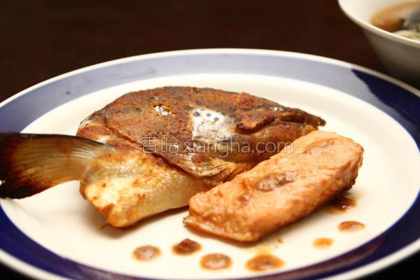 味噌酱烤鲑鱼头的做法
