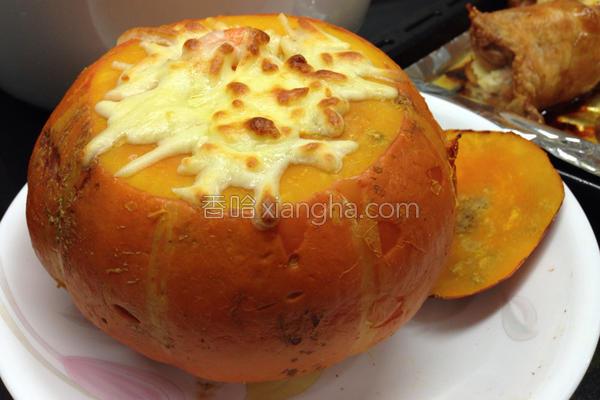 南瓜芝士焗饭的做法