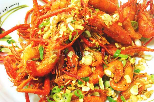 蒜酥溪虾的做法
