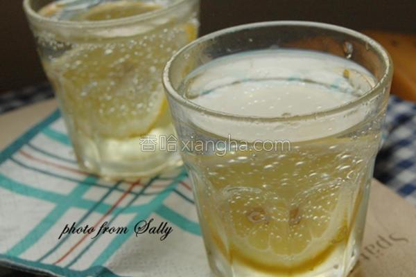 柠檬汽泡酒的做法