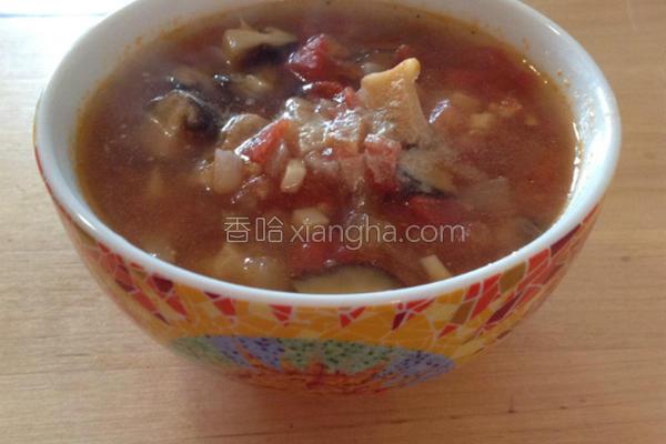 超番茄香菇汤的做法