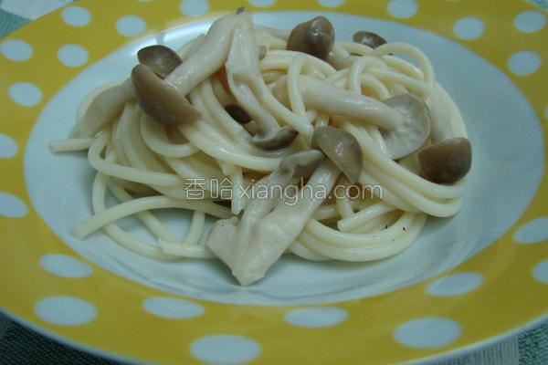 香煎什菇意大利面的做法