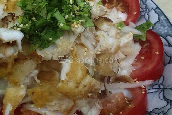 柠香洋葱鲷鱼冷拌的做法