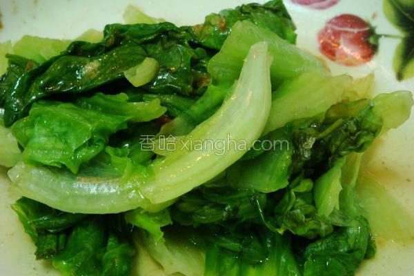 烫青菜方式的做法