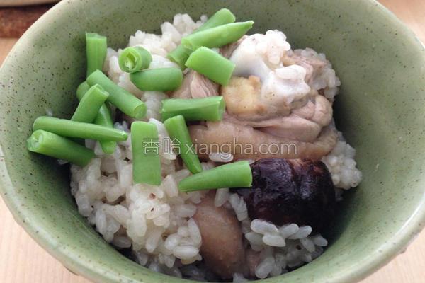 香菇鸡腿糯米鸡饭的做法