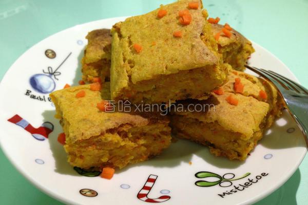 红萝卜蜂蜜燕麦糕的做法